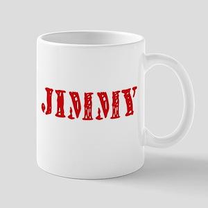 Jimmy Rustic Stencil Design Mugs