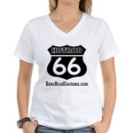 HOTROD 66 (BLK) Women's V-Neck T-Shirt