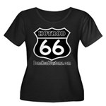 HOTROD 66 (BLK) Women's Plus Size Scoop Neck Dark