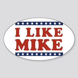 I Like Mike Oval Sticker