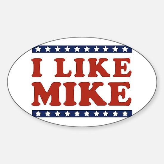 I Like Mike Oval Decal
