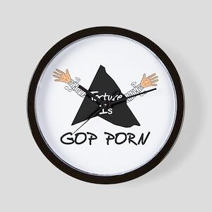 Torture Is GOP Porn Wall Clock