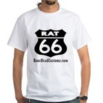 RAT 66 BLK White T-Shirt