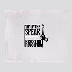 Tip of the Spear Throw Blanket