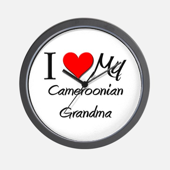 I Heart My Cameroonian Grandma Wall Clock