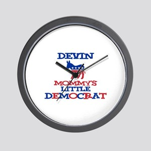 Devin - Mommy's Little Democr Wall Clock