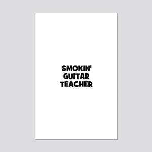 smokin' guitar teacher Mini Poster Print