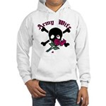 Army Wife Skull Hooded Sweatshirt