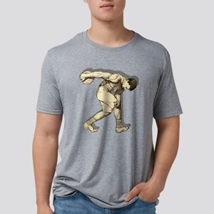Discus Thrower Mens Tri-blend T-Shirt