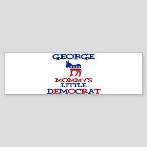 George - Mommy's Little Democ Bumper Sticker