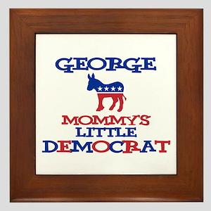 George - Mommy's Little Democ Framed Tile