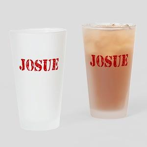 Josue Rustic Stencil Design Drinking Glass