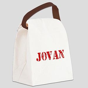 Jovan Rustic Stencil Design Canvas Lunch Bag