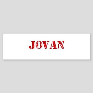 Jovan Rustic Stencil Design Bumper Sticker
