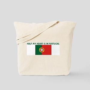 HALF MY HEART IS IN PORTUGAL Tote Bag