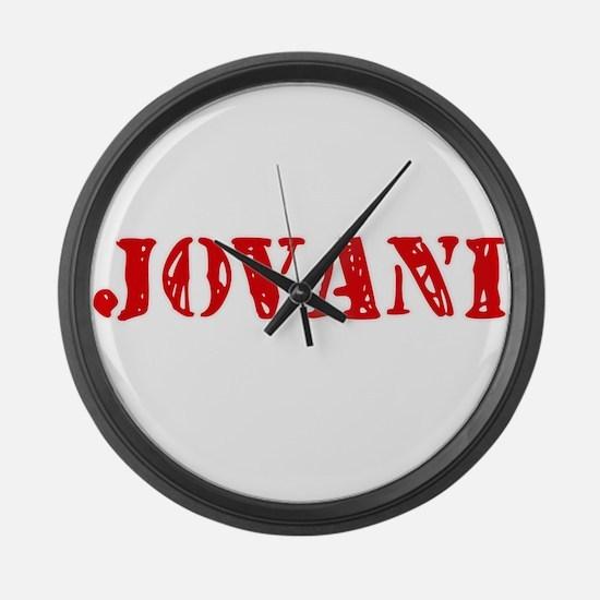 Jovani Rustic Stencil Design Large Wall Clock
