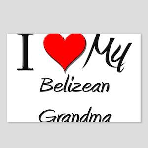 I Heart My Belizean Grandma Postcards (Package of