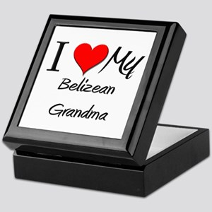 I Heart My Belizean Grandma Keepsake Box