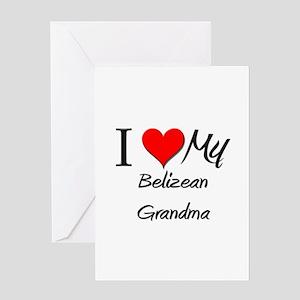 I Heart My Belizean Grandma Greeting Card