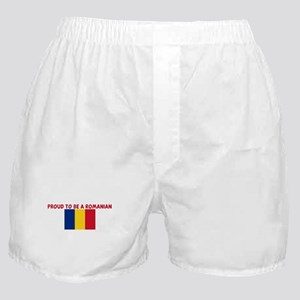 PROUD TO BE A ROMANIAN Boxer Shorts