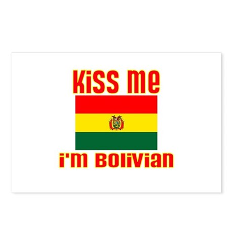 Kiss Me I'm Bolivian Postcards (Package of 8)