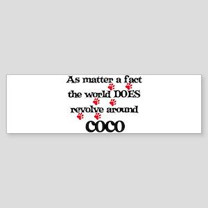 The World Revolves Around Coc Bumper Sticker