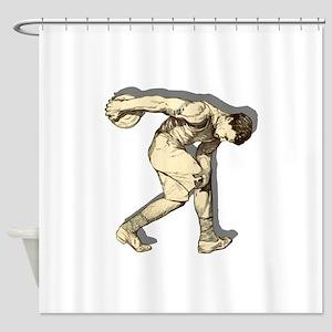 Discus Thrower Shower Curtain