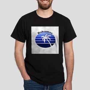 Bahamas Blue Palm Dark T-Shirt