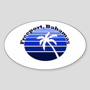 Freeport, Bahamas Oval Sticker