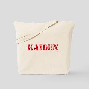 Kaiden Rustic Stencil Design Tote Bag