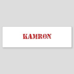 Kamron Rustic Stencil Design Bumper Sticker