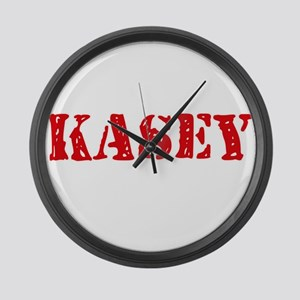 Kasey Rustic Stencil Design Large Wall Clock