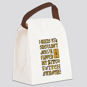 BITCH SWITCH Canvas Lunch Bag