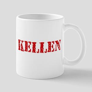Kellen Rustic Stencil Design Mugs