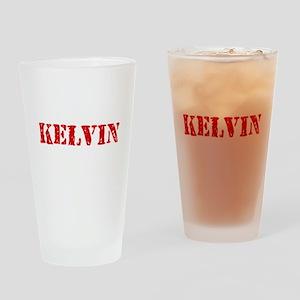 Kelvin Rustic Stencil Design Drinking Glass
