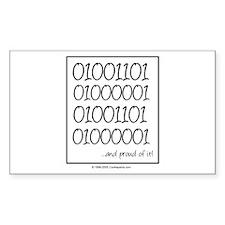 Binary Mama Rectangle Sticker