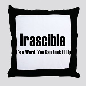 Irascible Throw Pillow