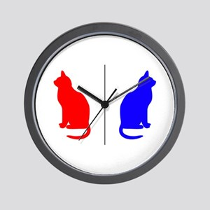 Male/Female Cat Restroom Litterbox Sign Wall Clock