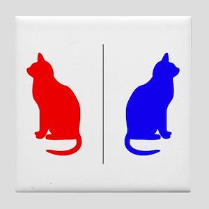 Male/Female Cat Restroom Litterbox Sign Tile
