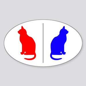 Male/Female Cat Restroom Litterbox Sign Sticker