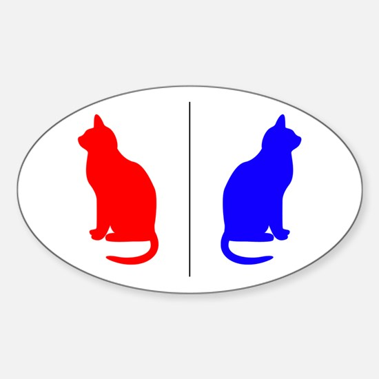 Male/Female Cat Restroom Litterbox Sign Decal