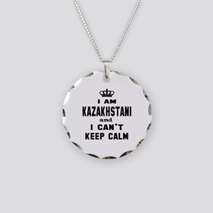 I am Kazakhstani and I can't Necklace Circle Charm