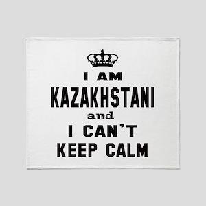 I am Kazakhstani and I can't keep ca Throw Blanket