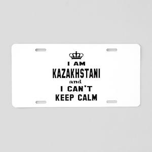 I am Kazakhstani and I can' Aluminum License Plate