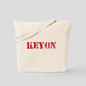 Keyon Rustic Stencil Design Tote Bag