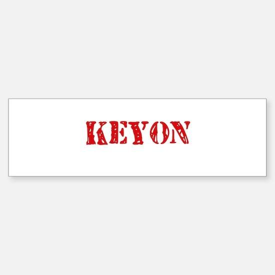Keyon Rustic Stencil Design Bumper Car Car Sticker