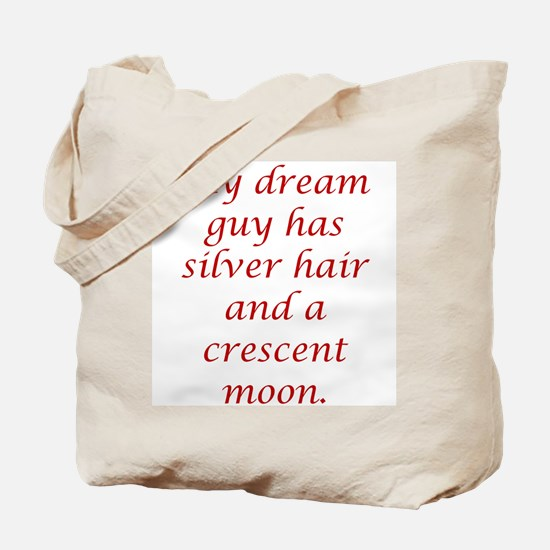 Dream Guy Silver&Crescent Red Tote Bag