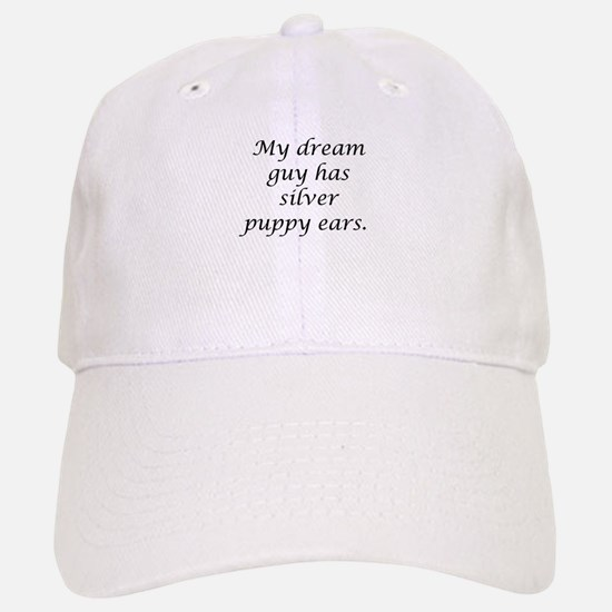 Dream Guy Silver Puppy Ears B Baseball Baseball Cap