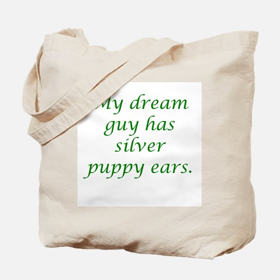 Dream Guy Silver Puppy Ears G Tote Bag
