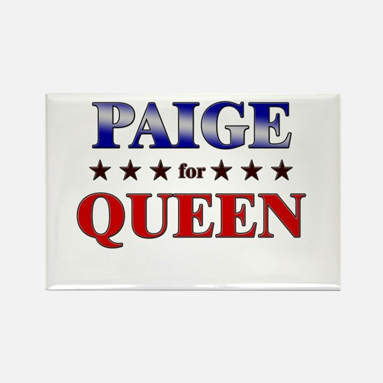 PAIGE for queen Rectangle Magnet